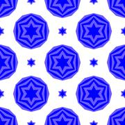 Blue David Star Seamless Background Stock Illustration