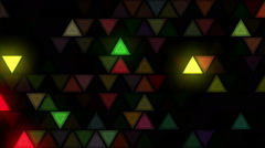 Strobbing Flashing triangles LEDs wall Stock Footage