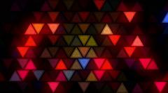 Flashing triangles LEDs wall nightclub Stock Footage