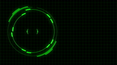 Green Tech Radar Timecode Counting Stock Footage