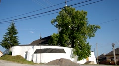 Reformed Church, from the end 13th century, Silica, Slovakia Stock Footage