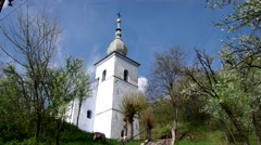 The Evangelical church in Slavoska, Slovakia Stock Footage