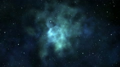 Loopable flight through the nebula Stock Footage