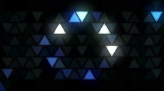 Flashing triangles LEDs wall fx 1 Stock Footage