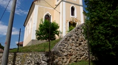 Evangelical church from 1820, in Kecovo, Slovakia Stock Footage