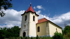 Evangelical church from 1787 in Ardovo, Slovakia Stock Footage