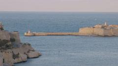 Valletta Malta, Breakwater Stock Footage