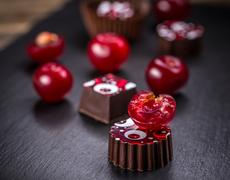 Fine chocolate pralines Stock Photos