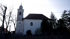 Evangelical Reformed Church in Gemerska Horka, Slovakia Stock Footage