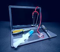 Diagnosis and repair concept Stock Photos