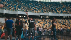 Ukraine, Kyiv-  U-Park rock open air festival at the stadium Stock Footage