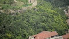 Walls Of Medieval Fort Tsarevets Veliko Tarnovo Stock Footage