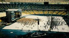 Ukraine, Kyiv- U-Park rock open air festival at the stadium Stock Footage
