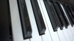 Piano or synthesizer keys hd Stock Footage