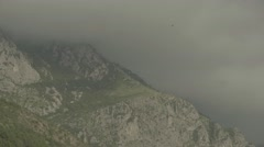 The mountains of Montenegro in the fog . Rocky mountain landscape. The Balkans Stock Footage
