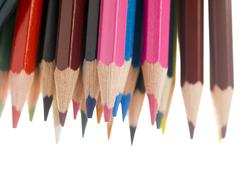 Close up of a different color pencil Stock Photos