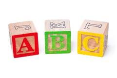 Close up shot of playing cubes arranged side by side Stock Photos