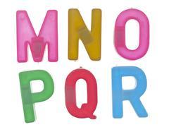 Colorful alphabet letters Stock Photos