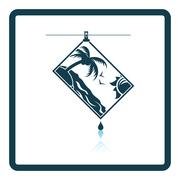 Icon of photograph drying on rope Stock Illustration