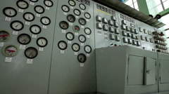 Nuclear power station. High-tech equipment. VVER monitoring and control system. - stock footage