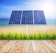 Eco power,Power plant using renewable solar energy Kuvituskuvat