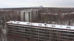 Chernobyl, pripyat, reactor. winter. 2014 Stock Footage
