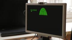 Fingerprint Scan Biometrics Identify Authorization Concept v1 - stock footage