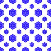 Blue David Star Seamless Jewish Symbol of Religion Stock Illustration