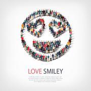 People emoticon smiley icon Stock Illustration