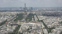 Aerial View City Of Paris, Pan movement Stock Footage