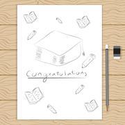 Congratulation. vector easy design for education. - stock illustration