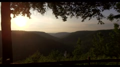 Aerial view of a sunset at green canyon 4k Stock Footage