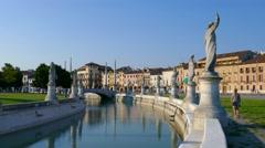 Padua - Prato della Valle Stock Footage