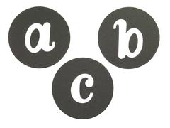 Paper cut out with letters abc Stock Photos