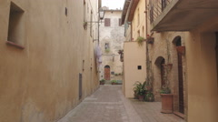 Empty Picturesque street Tuscany, Italy Stock Footage