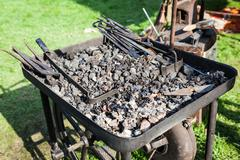 Old fashioned blacksmith furnace Stock Photos
