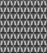 3d crystal cone pattern white - stock illustration