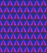 3d crystal cone pattern purple Stock Illustration
