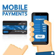 Mobile payments vector business design. - stock illustration