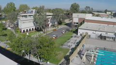 High Angle View Biola University Campus - Slow Zoom Stock Footage