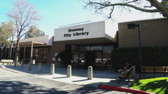 Downey California City Library Public Library Stock Footage
