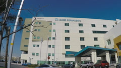 Kaiser Permanente Hospital Entrance Area - Downey - stock footage