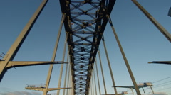 Driving Across Sydney Harbour Bridge In The Morning - Middle. Stock Footage