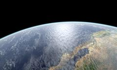 Close-up Earth rendering Stock Illustration