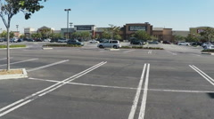 Pan Shot Of Large Retail Shopping Strip Mall - Downey CA Stock Footage