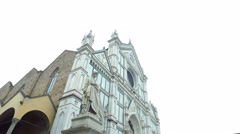 Basilica of Santa Croce in Florence, Italy Stock Footage