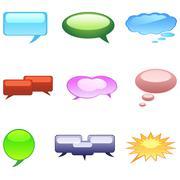 Dialogue bubble Stock Illustration