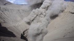 Smoking crater of Bromo volcano, Java, Indonesia Stock Footage