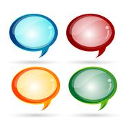 Glassy dialogue bubbles Stock Illustration