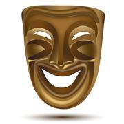 Happy drama mask Stock Illustration